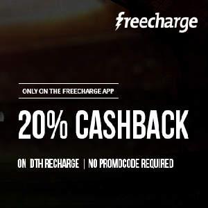 Freecharge 20% Cashback