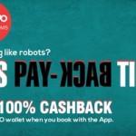 Oyo Rooms 100% Cashback