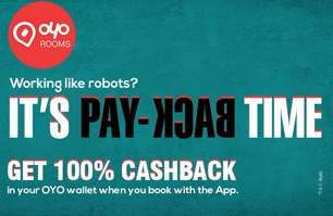 Oyo Rooms 100% Cashback