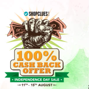 Shopclues 100 Cashback