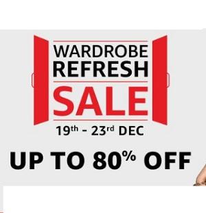 Amazon Wardrobe Refresh Sale Upto 80% Off